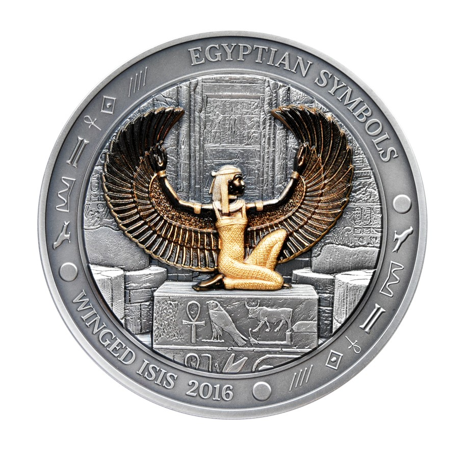 Buy 20 dollars silver coin winged goddess isis egyptian more views biocorpaavc