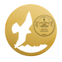 "500 Togrog silver coin - ""Falco cherrug"" - Mongolian Nature series - Mongolia 2015"