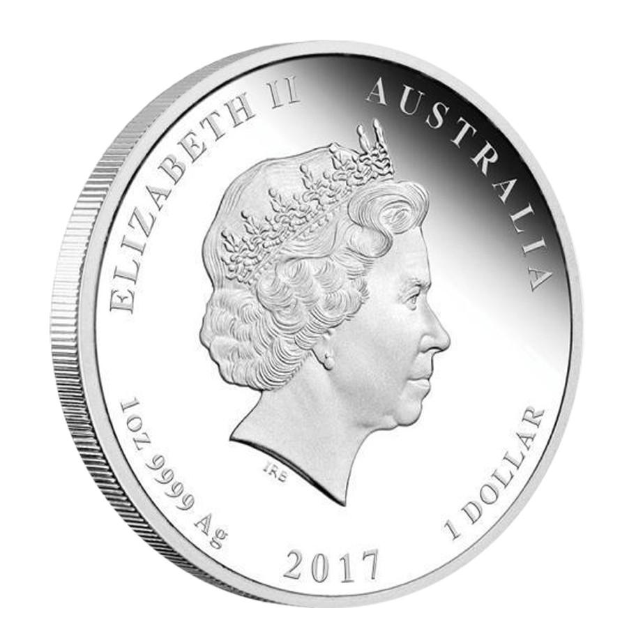 Niue Island 2017 1$ Jahr Des Hahnes Gedenkmünzen Chinesischer Kalender .999 Silbermünze