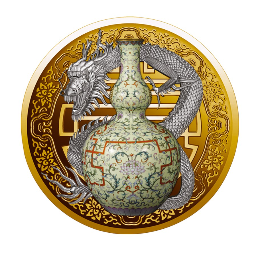 100 Goldmünze Qianlong Chinesische Porzellan Vase Die Teuerste