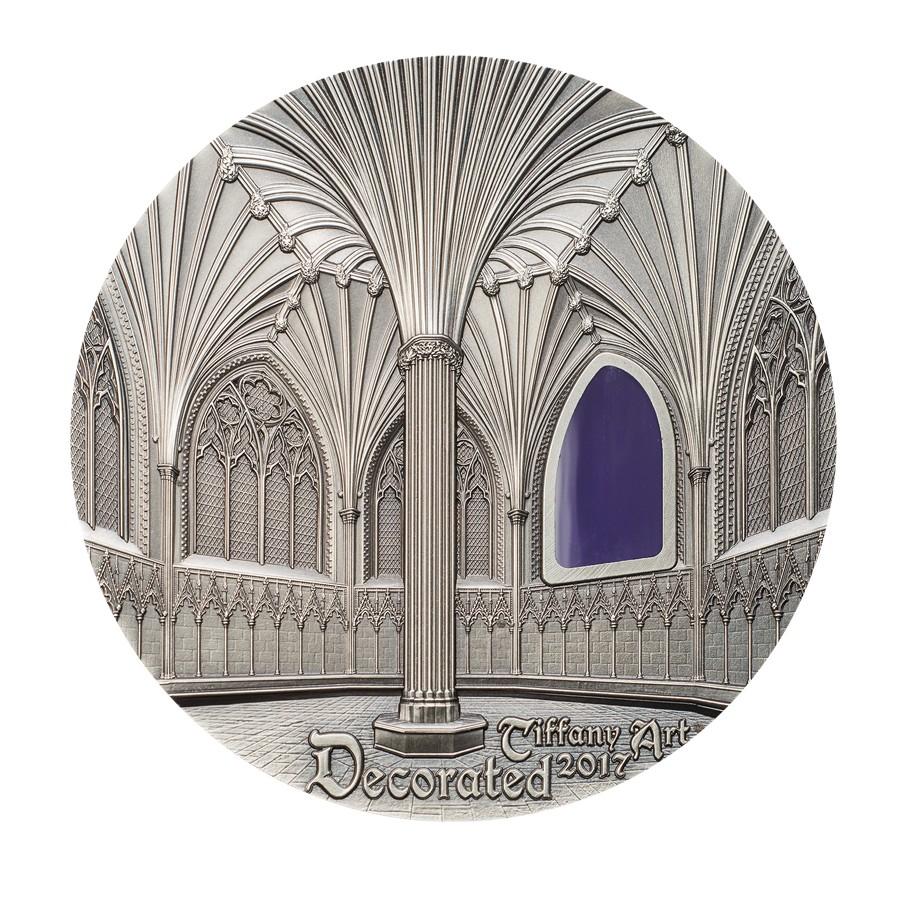 Kaufen 10 Dollar Silbermünze Tiffany Art Wells Kathedrale