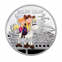 "1 Dollar Silbermünze - Niue Island 2011 - ""Bolek und Lolek"" - Cartoon Characters Serie"