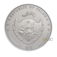 "10$ Silbermünze - ""Vampir""- Mystische Kreaturen Serie - Palau 2014"