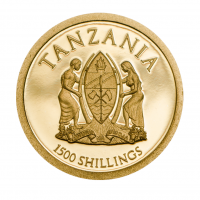 "1500 Shilling Goldmünze - 2014 Tansania - ""Heiligsprechung der Päpste"""