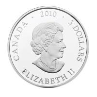 """3 Dollar Silbermünze - """"Lachs"""" - König der Flüsse"""