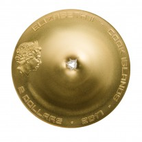 """2 Dollar Silbermünze - """"Chergach Meteorit Einschlag"""" - Cook Islands 2017"""