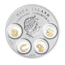 Niue Island 2017 1$ Jahr Des Hahnes Chinesischer Kalender .999 Silbermünze Münzen Gedenkmünzen
