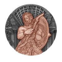 """Серебряная монета за 5 долларов - серия """"Зевс Боги Олимпа"""" - остров Ниуэ 2017"""