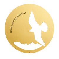 """500 Тугриков серебряная монета - """"Балобан"""" -серия  монгольскa природa, - Монголия 2015"""