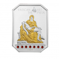 """Серебряная монета 5 долларов - """"PIETA"""" - серия произведений искусства Ватикана - Острова Кука 2009"""