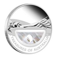 """Silbermünze - """"Schätze Australiens"""" mit Perle"""