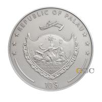 """10 долларов серебряная монета - """"Вампир"""" - мифические существа серии - Палау 2014"""